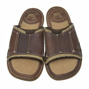 Margaritaville Sz 9M Brown Leather Sandals